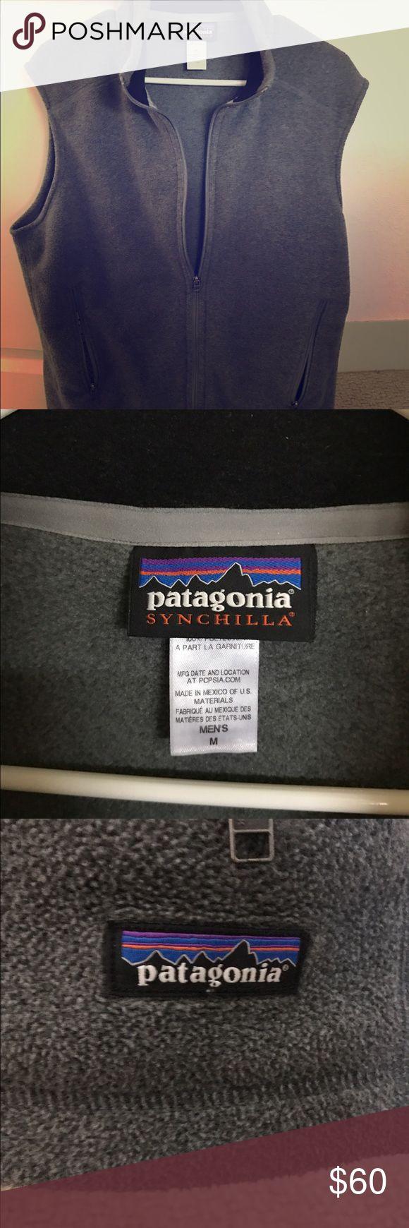 Patagonia Men's fleece vest Men's grey Patagonia fleece vest Patagonia Sweaters Zip Up