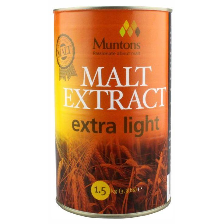 Muntons Extra Light Plain Malt Extract 1.5 kg  Extract de malt de calitate ridicata.  S-a folosit cel mai bun orz East Anglian, maltificat cu maiestrie.  Substanta solida: 80-82% Culoare EBC: mai putin de 7