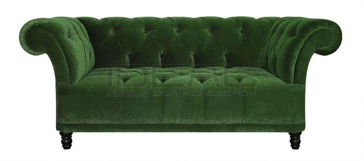 Przepiękna sofa chesterfield, radość domowników, chluba gospodarza, zazdrość gości. Pikowane siedzisko i pikowane oparcie eksluzywny produkt dla koneserów.  Sofa Chesterfield,  Dorset - IdealMeble  sofa chesterfield, zielona sofa, styl angielski, green