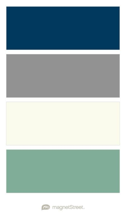 Navy, Classic Gray, Ivory, and Sage green Wedding Color Palette - custom color palette created at MagnetStreet.com