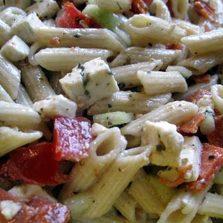 Food Blogger BA has found that pepperoni and pasta are a match made in heaven when combined with Gazebo Room! You'll fall in love with her Food Marriage blog as soon as you try her Greek Pasta Salad recipe. http://foodmarriage.com/2012/02/greek-pasta-salad-recipe.html