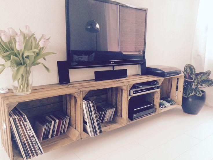 25 beste idee n over platenkast op pinterest. Black Bedroom Furniture Sets. Home Design Ideas