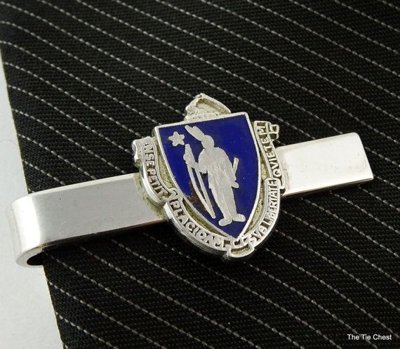 Neat tie clip featuring the latin motto of Massachussets. #tieclip  #thetiechest