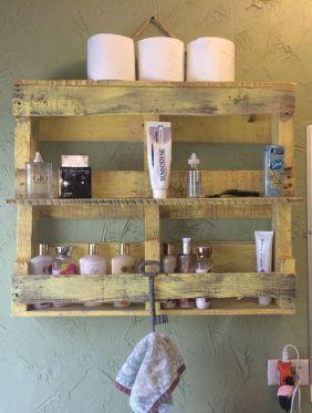 10 ideas para decorar tu ba o con muebles de palet for Muebles para toallas