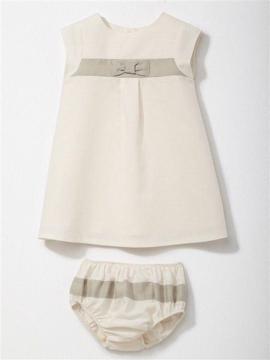 BABY TRICOLOUR DRESS PINK+GRENADINE