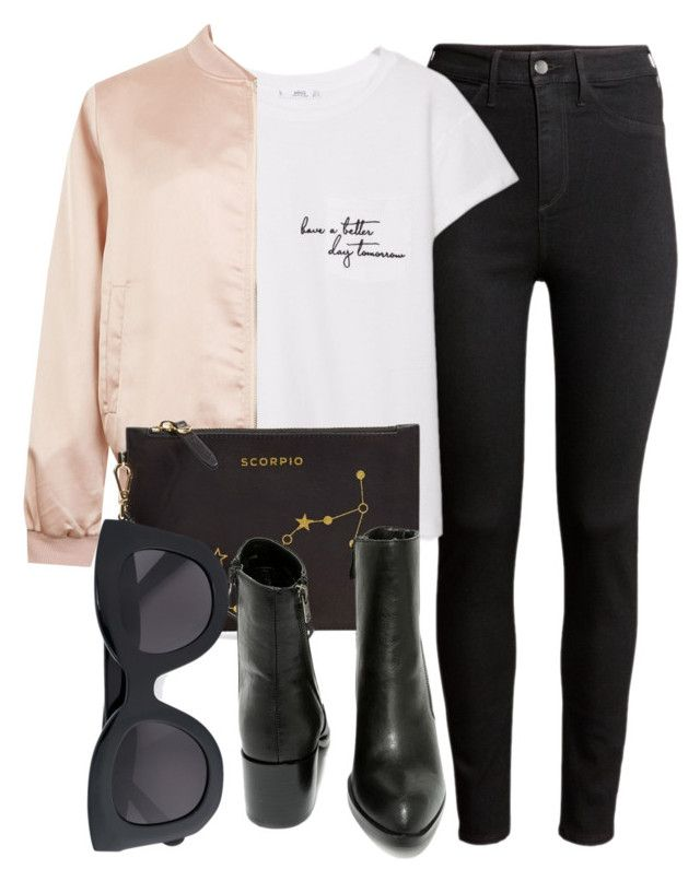 """""""Untitled #4928"""" by laurenmboot ❤ liked on Polyvore featuring H&M, MANGO, Cameo Rose, Etienne Aigner, Very Volatile and CÉLINE"""