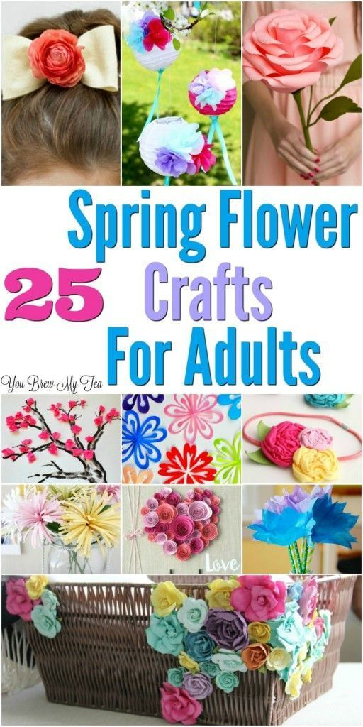 fabric craft ideas for adults 25 flower craft ideas for adults flower crafts 6534