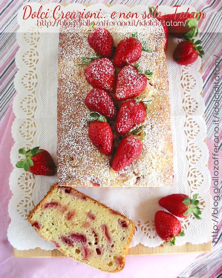 Plum-cake di ricotta con fragole e limone