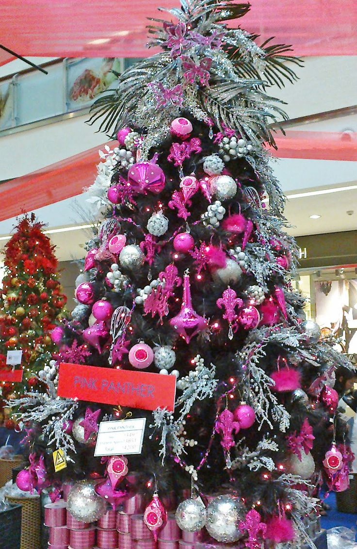 Christmas tree decorations purple silver - Image Detail For Pink And Silver Christmas Glam Holt Renfrew Inspired Decorated Christmas Tree