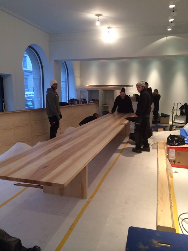 EDI table by Claesson Koivisto Rune for NIKARI / Finland being delivered on site.