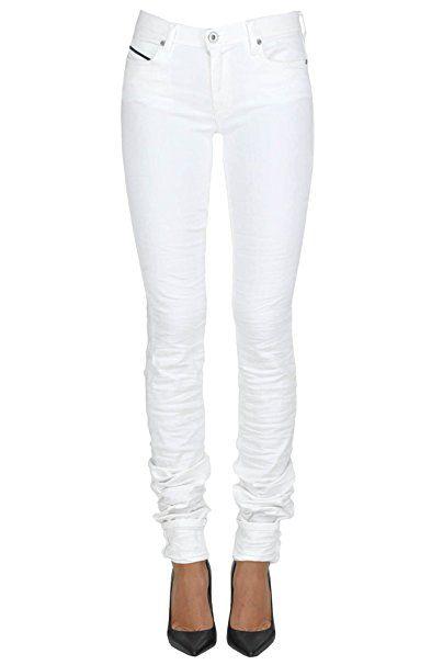 efbf16a5902576 Diesel Black Gold Damen Mcgldnm03005e Weiss Baumwolle Jeans - Jeanshose  frauen jeanshosen damen jeans outfit jeans
