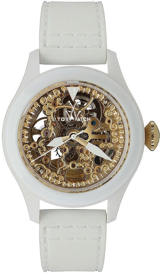 Women's White Toywatch Toy2Fly Skeleton Automatic Watch TTFS10WHGD
