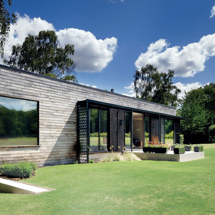 On the edge of a historic park in an English shire, a prefabricated home sets a new design standard.