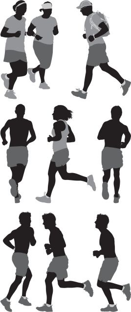 Vectores libres de derechos: People running