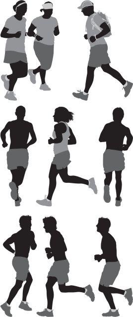 Vectores libres de derechos: People running