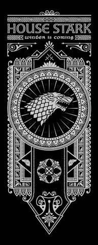 House Stark Banner by olipop | Game of Thrones | #got #agot #asoiaf #series #ilustração #illustration