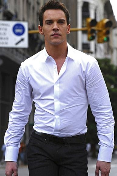 Men: THIS is how you wear a dress shirt and pants. Fitted or  tailored (even better) makes all the difference. Jonathan Rhys Meyers