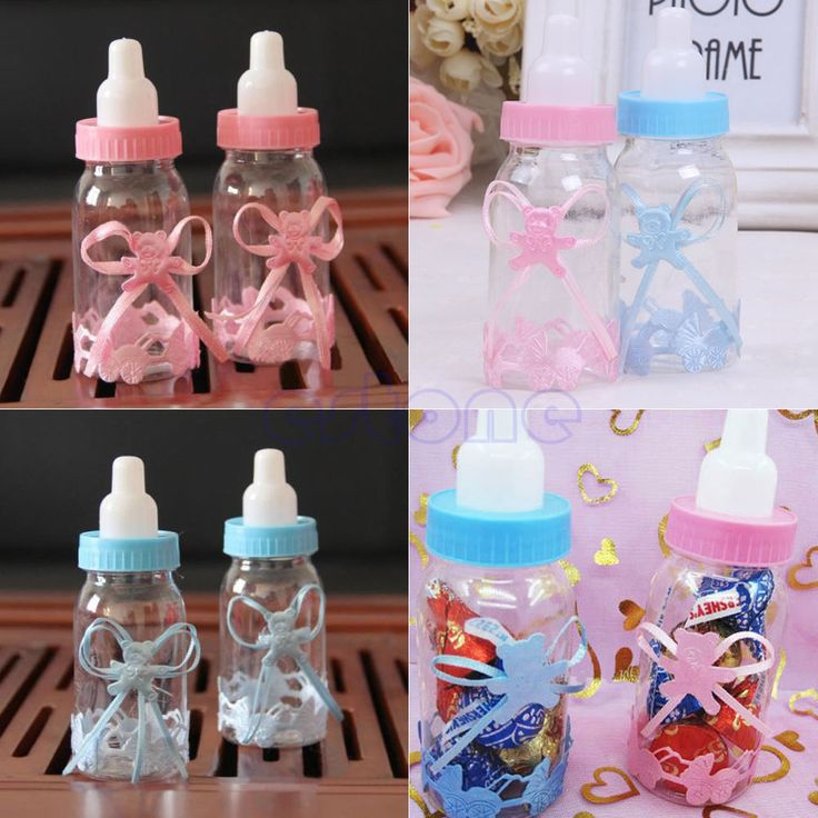 12pcs Candy Box Baby Shower Bottle Baptism Party Christening Favours Gift