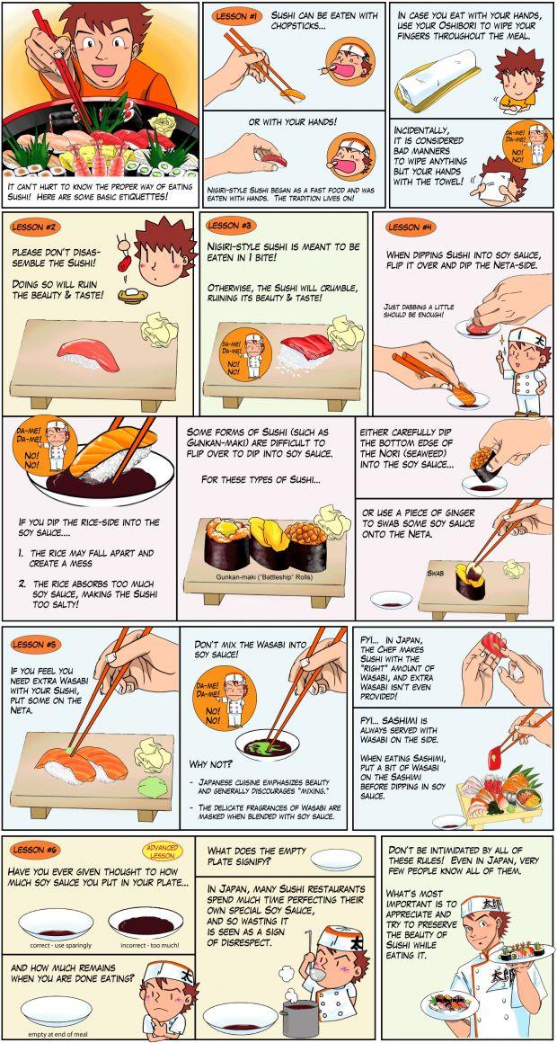 Sushi Etiquette #Infographic #infografía
