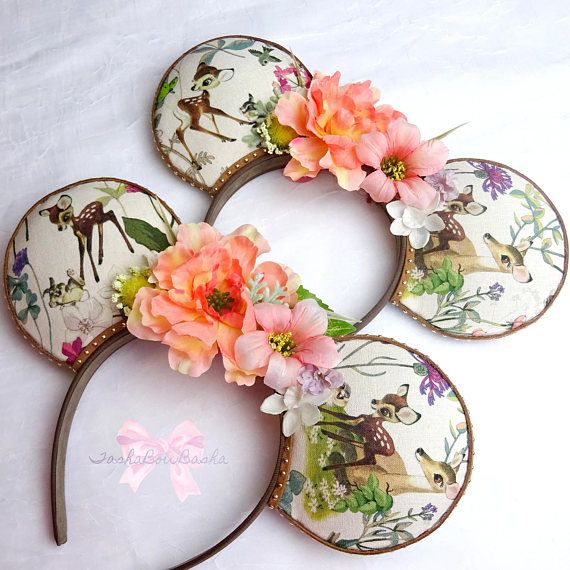 Little April Showers Bambi & Thumper Inspired Floral Mickey /