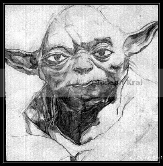 Yoda - grafit ceruza