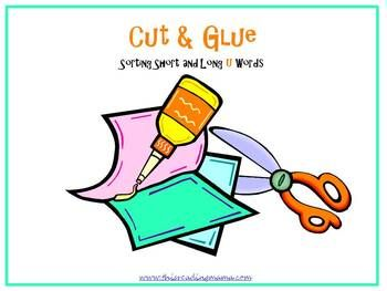 Cut and Glue: Sorting Words with the Short and Long u Patterns - This word sort was created with a school theme and features short u words as well as long u words {with patterns oo, u_e, ue, and ui}. Ask the child to read each short and long u word, then cut and glue it under the correct pattern- short or long u- on a large piece of construction paper. There are 18 words total: 9 short u words and 9 long u words and an answer key on the last page.