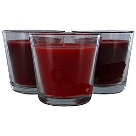 Trio Glass Jar Candle Berry Set of 3 - $5