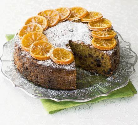 Fruit-filled clementine cake-polenta-almond