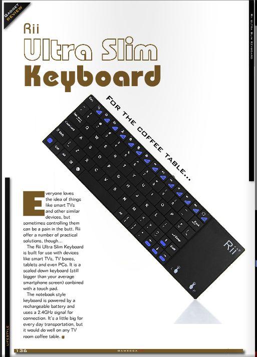 Review - Gamecca - Rii Ultra Slim Keyboard  #syntech #rii #keyboards