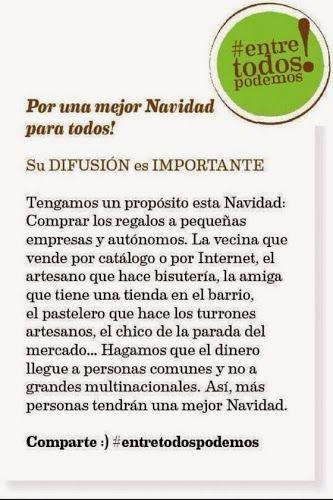 novias cira: #EntreTodosPodemos y #RegalaenNavidad