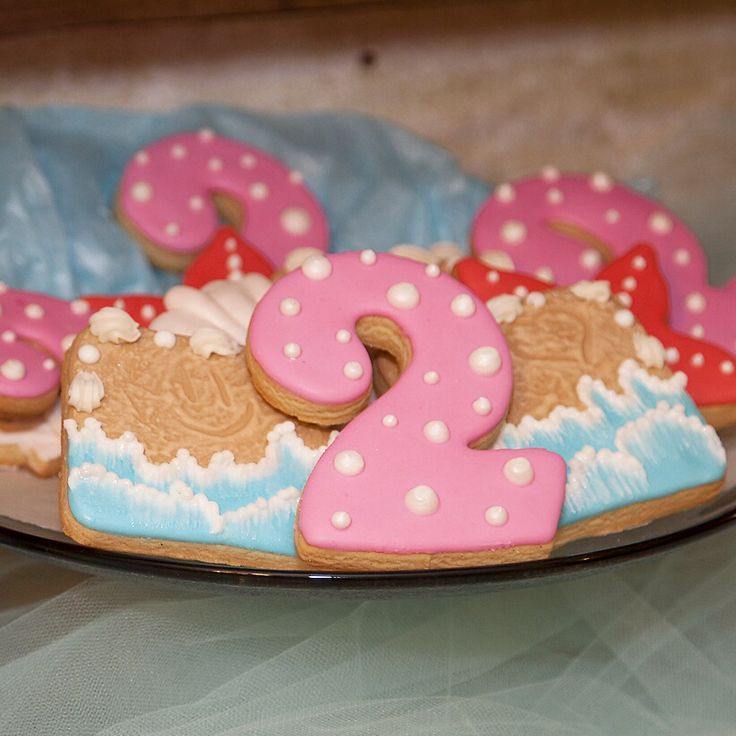 Under the Sea Birthday Cookies- Numbers, Beach Scenes and Starfish