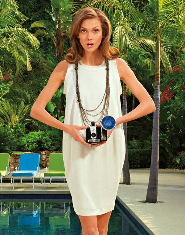 Karlie Kloss is a Flawless Retro Beauty for Americana Manhasset