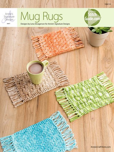 Mug Rugs The perfect touch for a coffee table or as a quick gift from Annie's Signature Designs! https://www.anniescatalog.com/detail.html?prod_id=134261