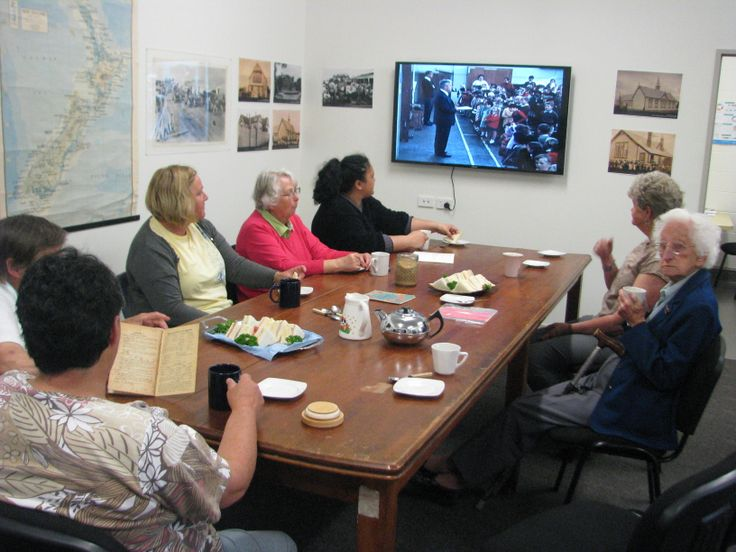 Some of our Museum friends had a great time talking about school in the 'old days' at our November 2013 event.