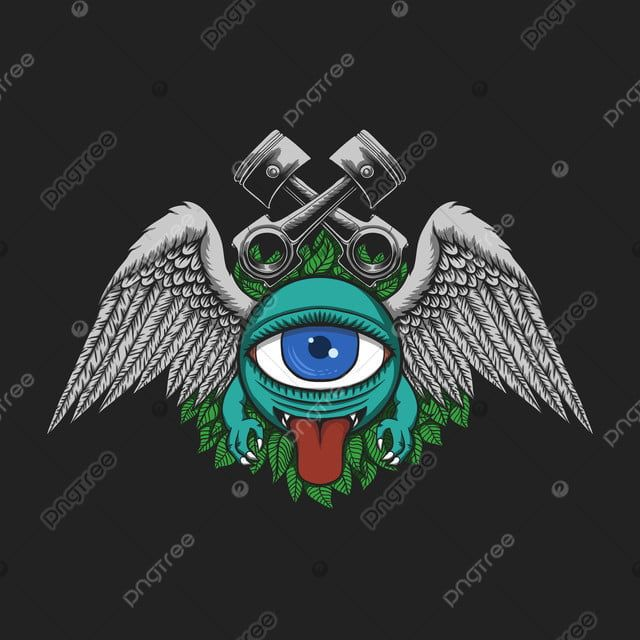 Monster Club Motorcycles Vector Illustration Alien Angry Animal Png And Vector With Transparent Background For Free Download Cartoon Character Clipart Vector Monster Vector Illustration