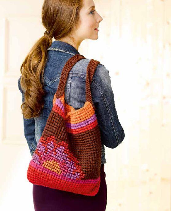 Handtasche häkeln und besticken - CrissCross