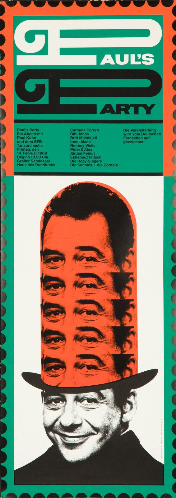 Original Vintage Poster Paul's Party German Surreal Photomontage 1960s Mod Pop | eBay