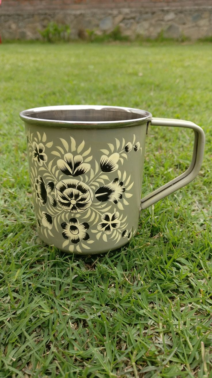 Hand Painted Enamel ware Mugs designed especially to make tea/coffee time gracefully memorable. Hand painted by the meticulous artisans of Kashmir. know more; place order: chinarartskashmir@gmail.com