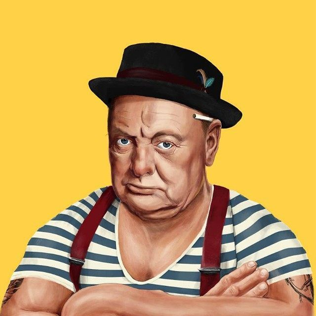 Winston Churchill  This Creative Artist Re-Imaged 18 World Leaders As Hipsters • Page 2 of 5 • BoredBug