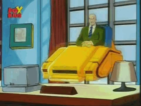 """Professor X's hovering wheelchair. 