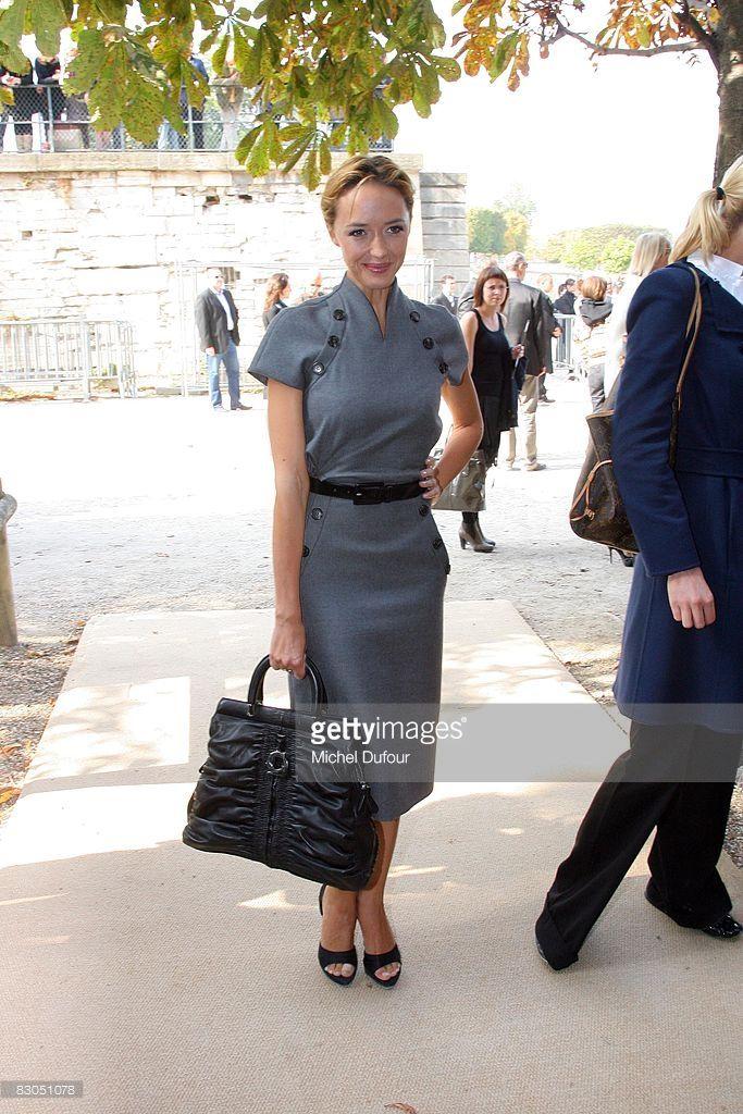 Photo d'actualité : Helene de Fougerolles arrive at the Christian...
