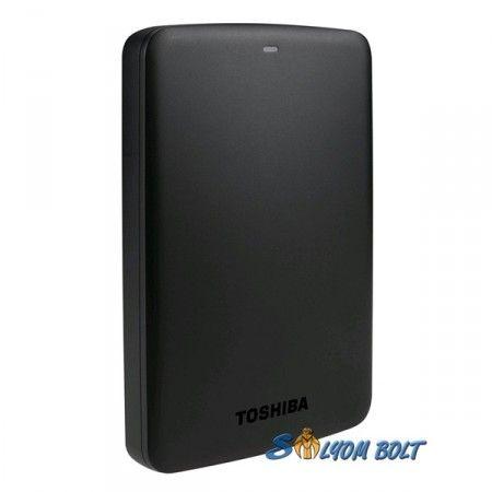 """Toshiba 2,5"""" 2000GB külső USB3.0 fekete Canvio Basics winchester"""