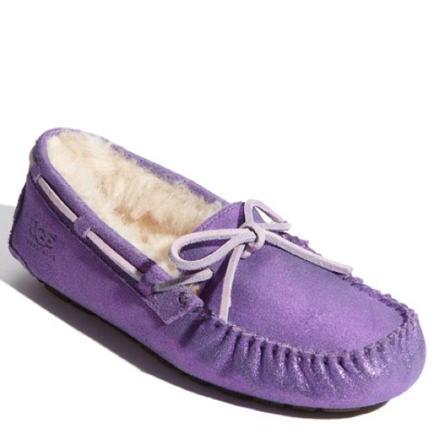 purple ugg slippers