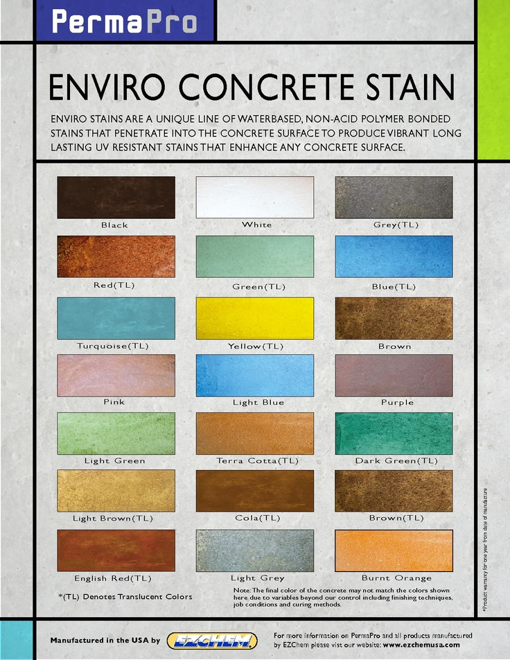 13 Best Water Based Concrete Stain Color Charts Images On