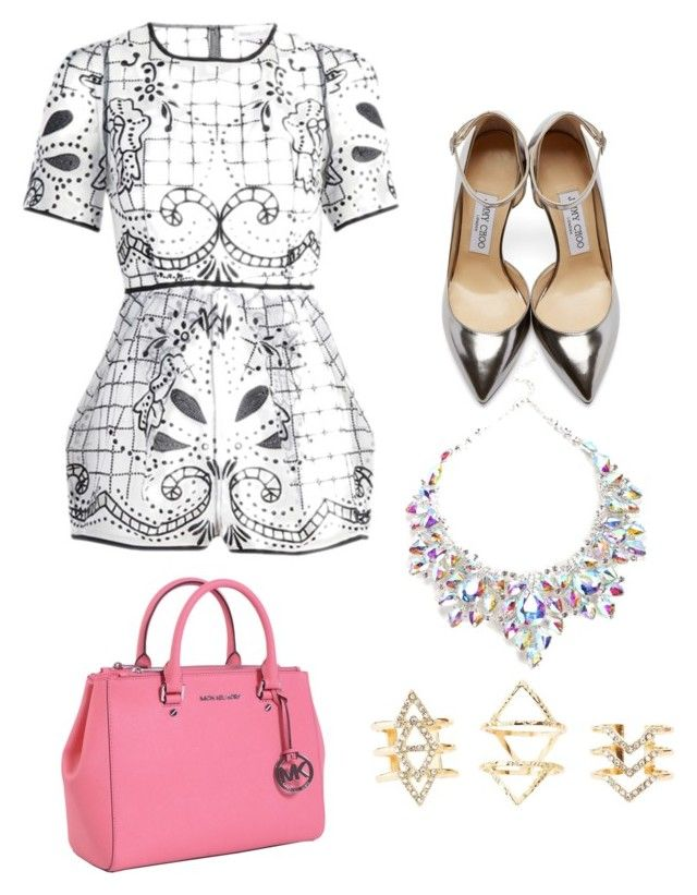 """""""Style by Mimi"""" by mokatsanemk on Polyvore featuring Alice McCall, Jimmy Choo, MICHAEL Michael Kors, Charlotte Russe, women's clothing, women, female, woman, misses and juniors"""