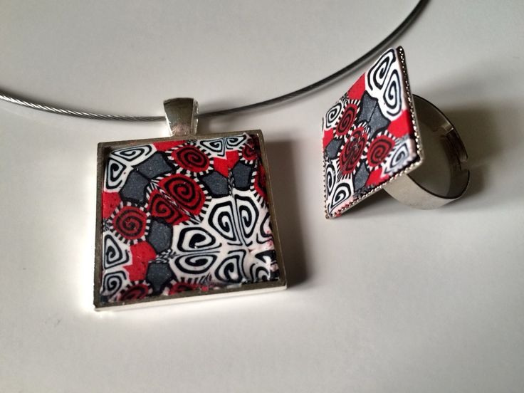 polymer clay jewelry set