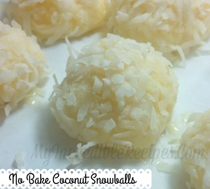 No Bake Coconut Snowballs ~ Dip in melted chocolate for extra yummy-ness!