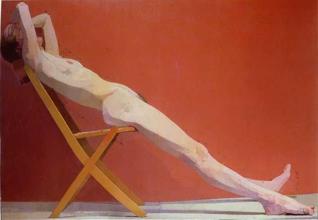 Euan Uglow nude. Walked round a corner at The Hayward Annual exhibition some years ago and saw this. Breathtaking.