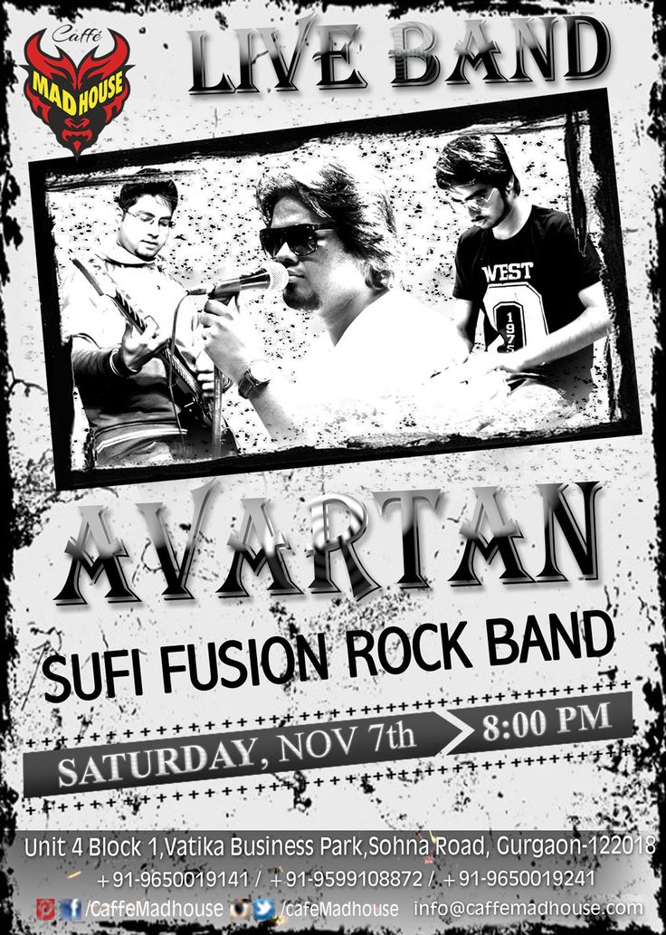 The count down has begun,, so book your tables right away as Caffe Mad House brings Avartan Band Live just for you!! #LIveBand #Avartan #MusicLovers #Weekend