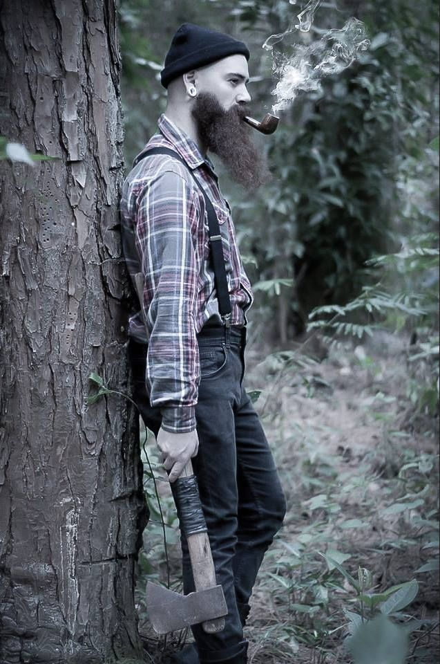 thelastofthewine:  beardsftw:   vintagebeard submitted:   Maurilio Lima   *** Bloody handsome lumberjack man stud there in the woods